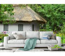 Фотообои домик с соломенной крышей