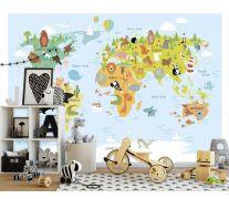 Фотообои Детская карта