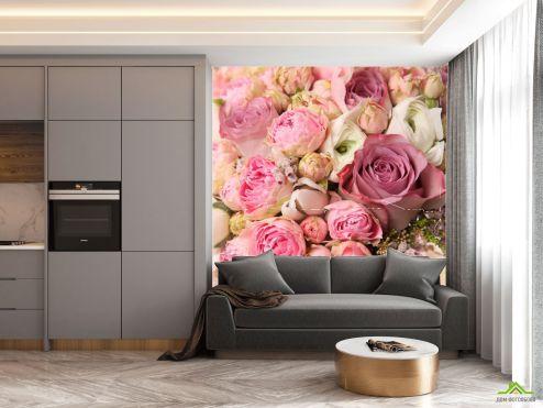 на кухню Фотообои в кухню Цветы