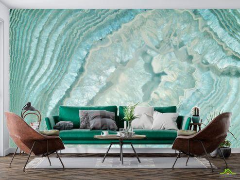 Каменная стена Фотообои Текстура бирюзового кварца