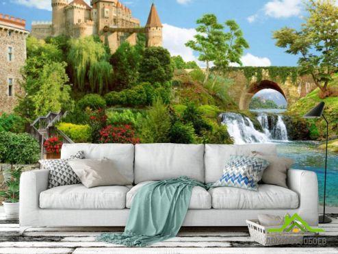 Фрески Фотообои Фреска с замком