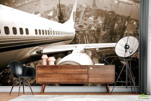 Самолеты Фотообои Крыло самолета