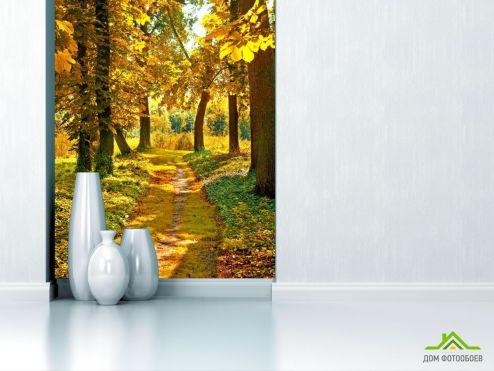 Фотообои дорожка в осеннем лесу