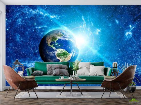 Космос Фотообои Земля и солнце купить