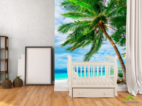 обои Пляж Фотообои Пальма и горизонт