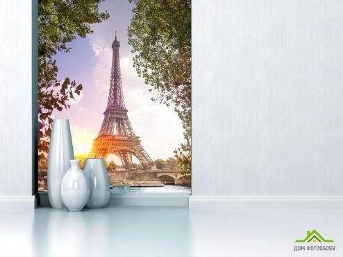 обои Париж Фотообои утро в Париже