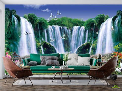 Природа Фотообои Живописный водопад