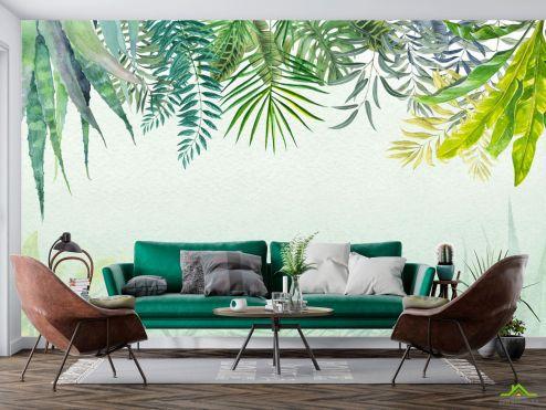 тропические листья Фотообои Тропические листья