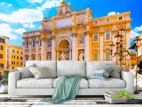 Желтые  Фотообои Рим, колизей
