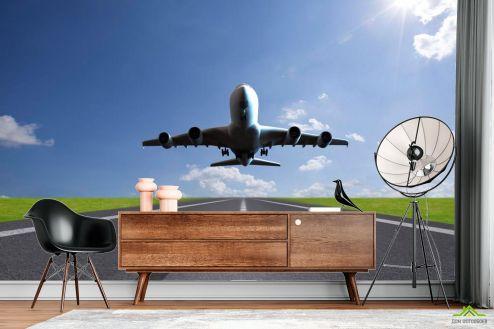 Самолеты Фотообои Взлет самолета