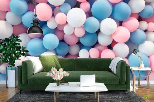 Геометрия Фотообои нежные воздушные шарики