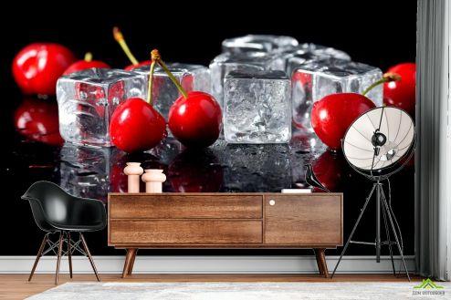Каталог фотообоев Фотообои Лёд, черешня
