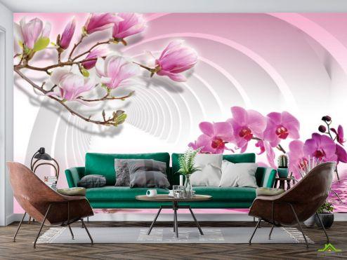 3Д  Фотообои Цветы 3д купить