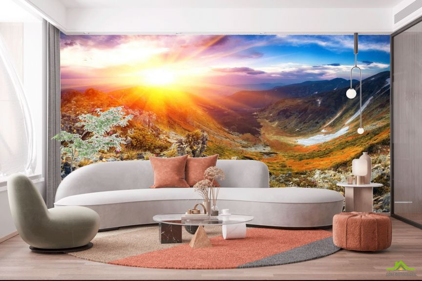 Фотообои Восход в горах