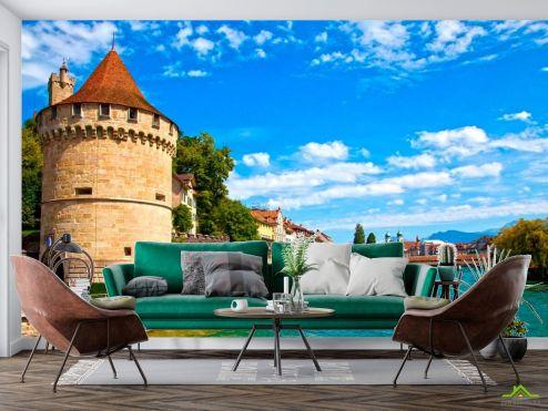Архитектура Фотообои Замок у канала