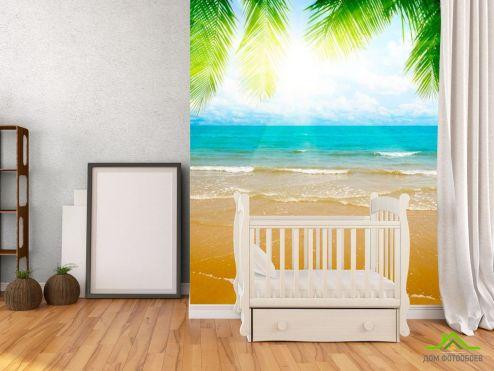 обои Пляж Фотообои Восход на лазурном пляже