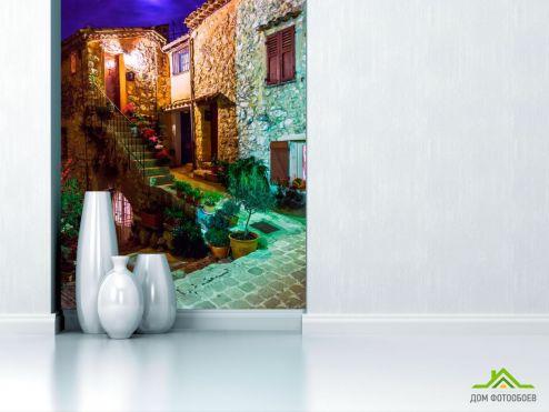 Улицы Фотообои Вечерний дворик
