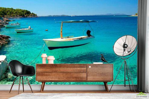 Корабли Фотообои Лодки у берега