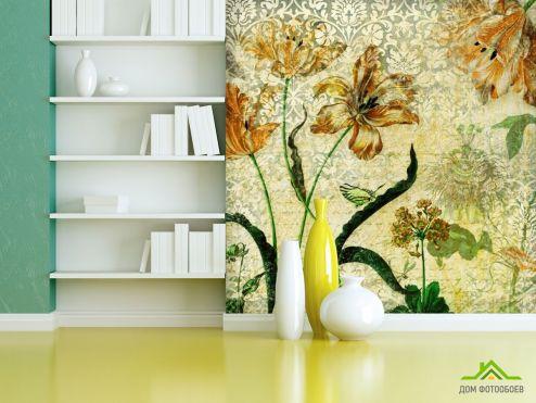 обои Цветы Фотообои Винтажные тюльпаны