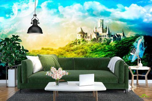 Замок Фотообои Утопающий в зелени замок