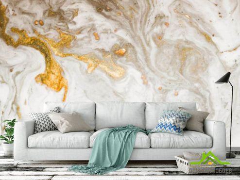 Fluid art Фотообои Золотой флюид