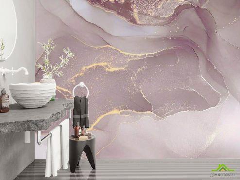 Фотообои в ванную по выгодной цене Фотообои Флюид в бордовом оттенке