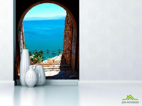 Арка Фотообои Арка с видом на море