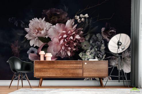 Цветы Фотообои Винтажный тёмный букет