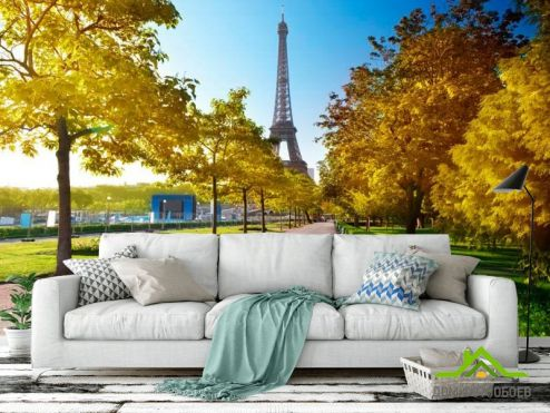 обои Париж Фотообои Париж осенью