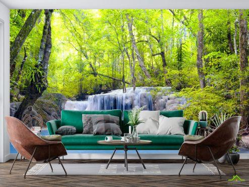 Природа Фотообои Водопад и деревья