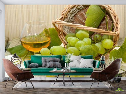Еда и напитки Фотообои зеленый виноград