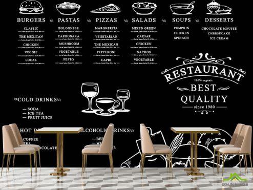 для кафе Фотообои Меню ресторана