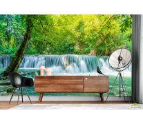 Фотообои бирюзовый водопад