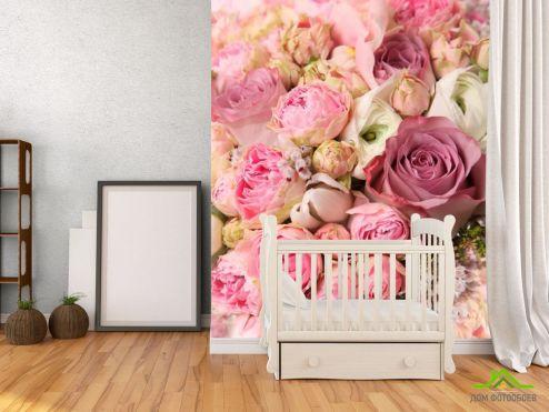 Розовые  Фотообои Цветы