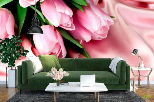 Тюльпаны Фотообои Розовые тюльпаны