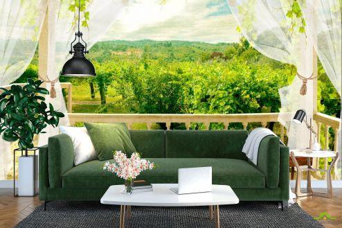 Фотообои Вид из окна по выгодной цене Фотообои Вид из окна на сад