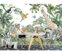 Фотообои Акварельные джунгли