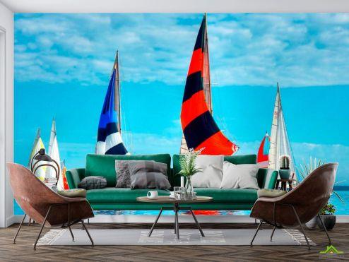 Корабли Фотообои Разноцветные паруса