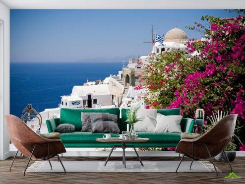 Фотообои Природа по выгодной цене Фотообои белый дом над морем