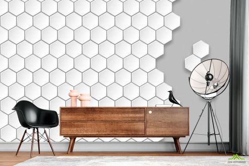 Геометрия Фотообои Пчелиные соты