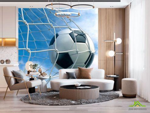 Спорт Фотообои Мяч в воротах