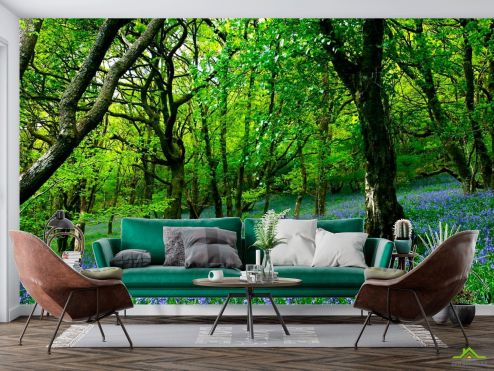 Фотообои Природа по выгодной цене Фотообои Между деревьями цветы
