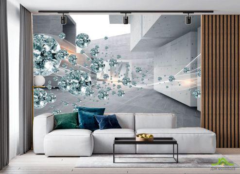 в гостиную Фотообои Камни и серые стены