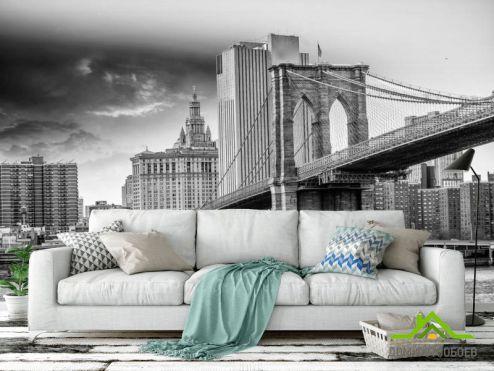 Бруклинский мост Фотообои Древний мост Бруклинский