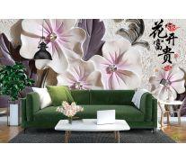 Фотообои Барельефные керамические цветы