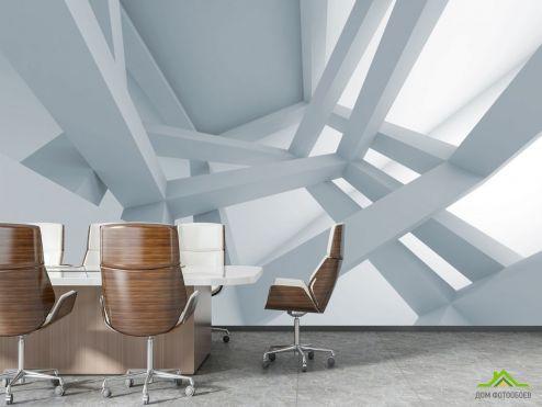 в офис Фотообои 3д потолок