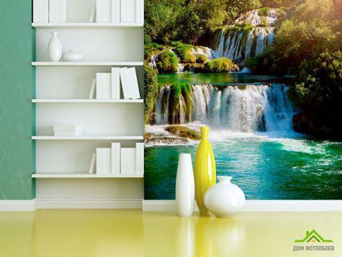Водопад Фотообои Длинный водопад