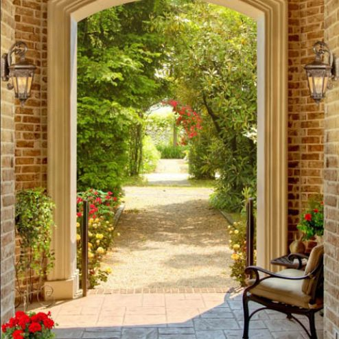 Фотообои в коридор и прихожую по выгодной цене Фотообои Арка в саду