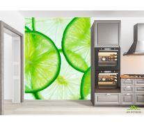 Фотообои в кухню Лайм