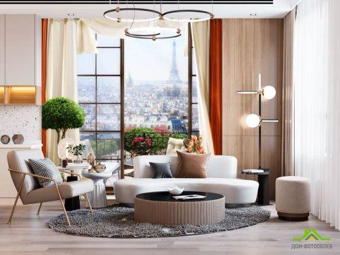 Вид из окна  Фотообои Вид из окна на Париж